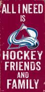 "Colorado Avalanche 6"" x 12"" Friends & Family Sign"