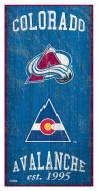 "Colorado Avalanche 6"" x 12"" Heritage Sign"