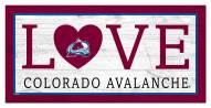 "Colorado Avalanche 6"" x 12"" Love Sign"