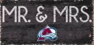 "Colorado Avalanche 6"" x 12"" Mr. & Mrs. Sign"