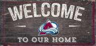 "Colorado Avalanche 6"" x 12"" Welcome Sign"