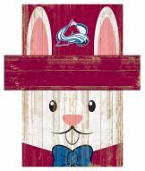 "Colorado Avalanche 6"" x 5"" Easter Bunny Head"
