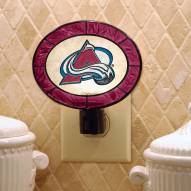 Colorado Avalanche Art Glass Night Light