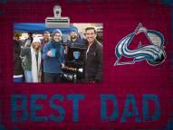 Colorado Avalanche Best Dad Clip Frame