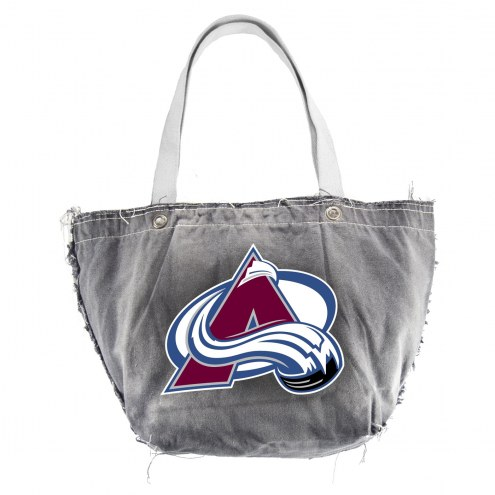 Colorado Avalanche Black Vintage Tote Bag