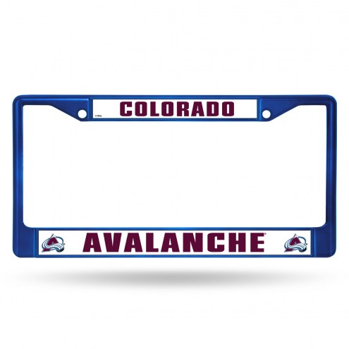 Colorado Avalanche Blue Colored Chrome License Plate Frame