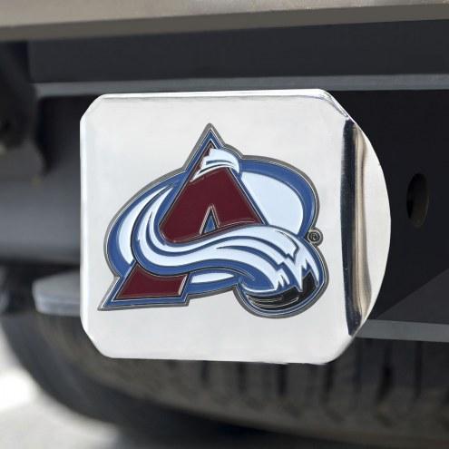 Colorado Avalanche Chrome Color Hitch Cover