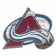 Colorado Avalanche Distressed Logo Cutout Sign
