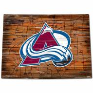 Colorado Avalanche Distressed State with Logo Sign