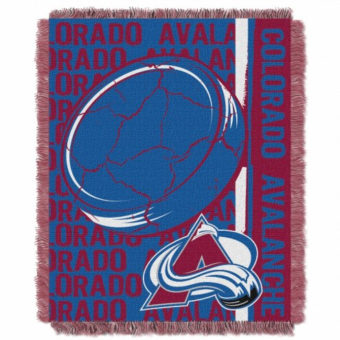 Colorado Avalanche Double Play Woven Throw Blanket