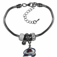 Colorado Avalanche Euro Bead Bracelet