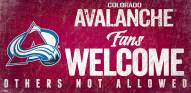 Colorado Avalanche Fans Welcome Sign