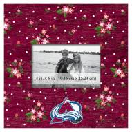 """Colorado Avalanche Floral 10"""" x 10"""" Picture Frame"""