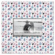 """Colorado Avalanche Floral Pattern 10"""" x 10"""" Picture Frame"""