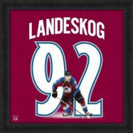 Colorado Avalanche Gabriel Landeskog Uniframe Framed Jersey Photo
