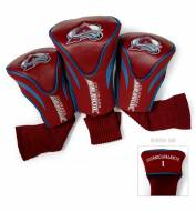 Colorado Avalanche Golf Headcovers - 3 Pack