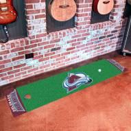 Colorado Avalanche Golf Putting Green Mat