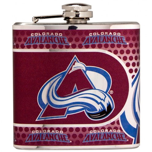 Colorado Avalanche Hi-Def Stainless Steel Flask
