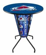 Colorado Avalanche Indoor/Outdoor Lighted Pub Table