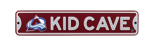 Colorado Avalanche Kid Cave Street Sign