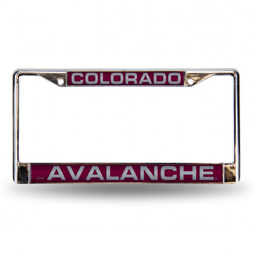 Colorado Avalanche Laser Chrome License Plate Frame