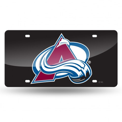 Colorado Avalanche Laser Cut License Plate