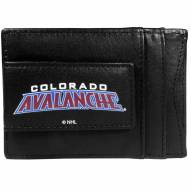 Colorado Avalanche Logo Leather Cash and Cardholder
