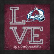 Colorado Avalanche Love My Team Color Wall Decor