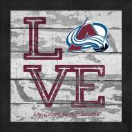 Colorado Avalanche Love My Team Square Wall Decor