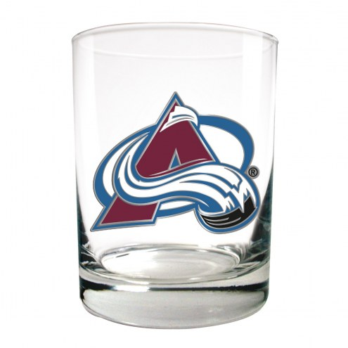 Colorado Avalanche NHL Rocks Glass - Set of 2