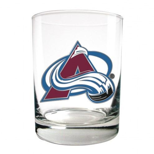 Colorado Avalanche NHL Rocks Glass - Set of 2