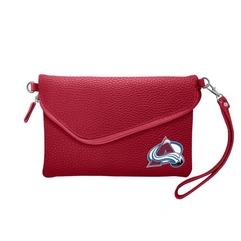 Colorado Avalanche Pebble Fold Over Purse