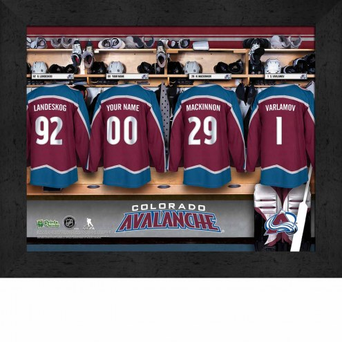 Colorado Avalanche Personalized 11 x 14 Framed Photograph