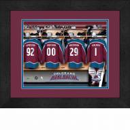 Colorado Avalanche Personalized Locker Room 13 x 16 Framed Photograph