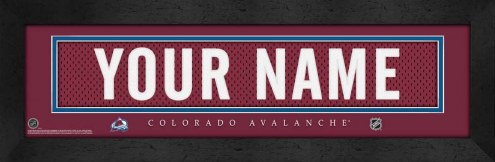 Colorado Avalanche Personalized Stitched Jersey Print