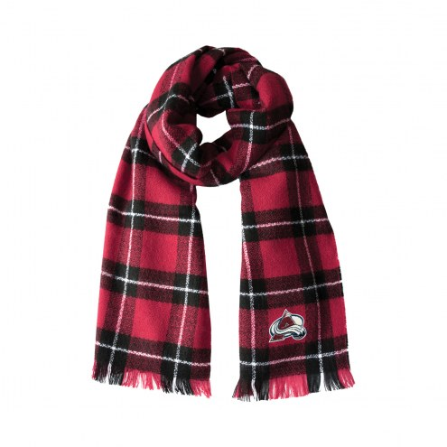 Colorado Avalanche Plaid Blanket Scarf