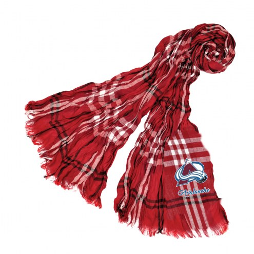Colorado Avalanche Plaid Crinkle Scarf