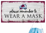Colorado Avalanche Please Wear Your Mask Sign