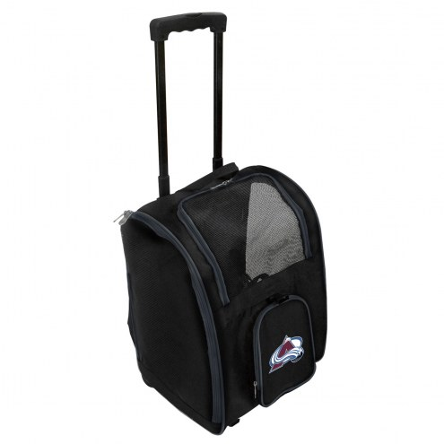 Colorado Avalanche Premium Pet Carrier with Wheels