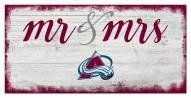 Colorado Avalanche Script Mr. & Mrs. Sign
