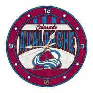 Colorado Avalanche Stained Glass Wall Clock
