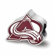 Colorado Avalanche Sterling Silver Enameled Bead