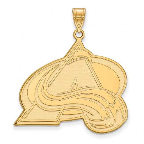 Colorado Avalanche Sterling Silver Gold Plated Extra Large Pendant