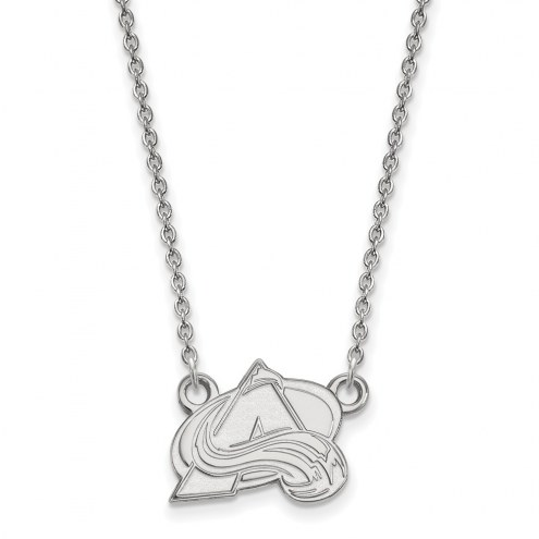 Colorado Avalanche Sterling Silver Small Pendant Necklace