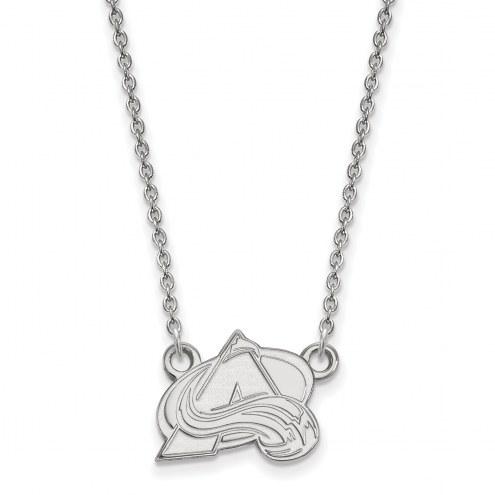 Colorado Avalanche Sterling Silver Small Pendant Necklace