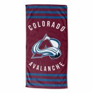 Colorado Avalanche Stripes Beach Towel
