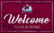 Colorado Avalanche Team Color Welcome Sign
