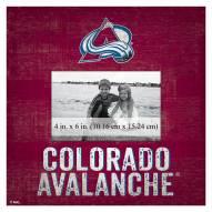 "Colorado Avalanche Team Name 10"" x 10"" Picture Frame"