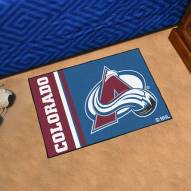 Colorado Avalanche Uniform Inspired Starter Rug