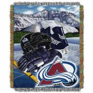 Colorado Avalanche Woven Tapestry Throw Blanket